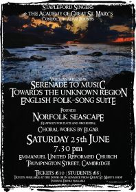 An Evening of Music by British Composers (performed by Stapleford Choral Society) poster