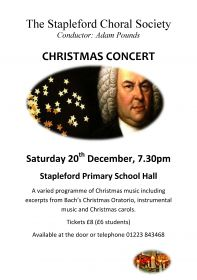 Christmas Concert (performed by Stapleford Choral Society) poster